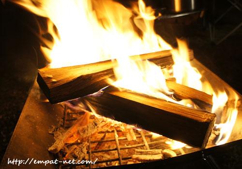 キャンプ たき火